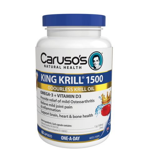Caruso's Natural Health King Krill 1500 60 Capsules