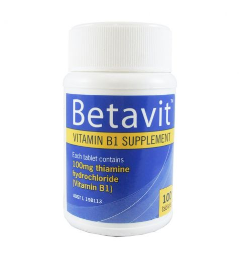 Betavit Vitamin B1 Supplement 100 Tablets