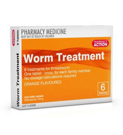 Pharmacy Action Worm Treatment Orange Flavoured Tablets 6
