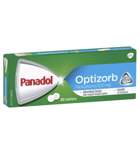 Panadol With Optizorb 20 Tablets