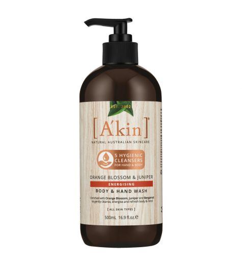 Akin Orange Blossom & Juniper Energising Body Wash 500ml