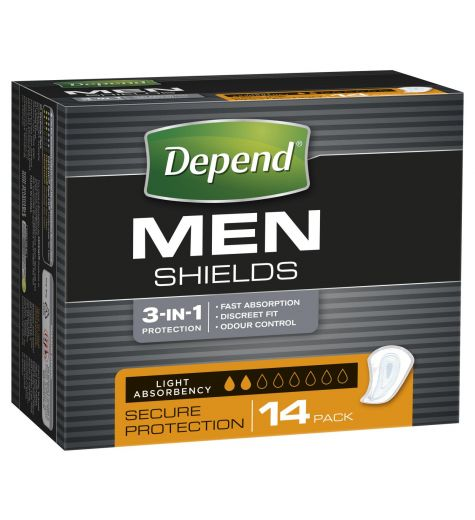 Depend For Men Shields 14 Count 6 Pack