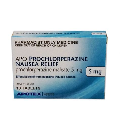 Apo-Prochlorperazine Nausea Relief 5mg 10 Tablets