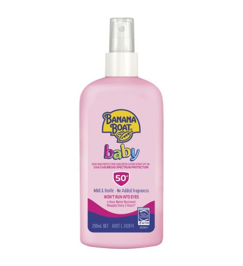 Banana Boat Baby Very High Protection Sunscreen Spray SPF 50+ 200ml