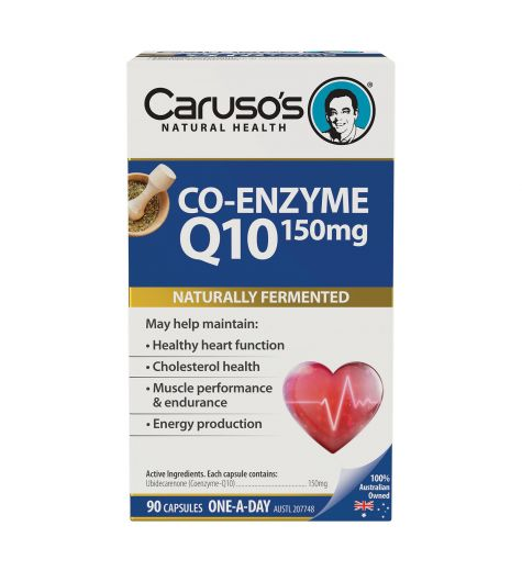 Caruso's Natural Health Co-Enzyme Q10 150mg 90 Capsules