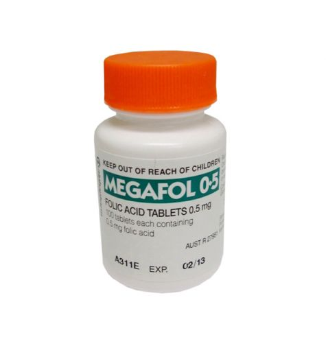 Megafol 500mcg (0.5mg) 100 Tablets