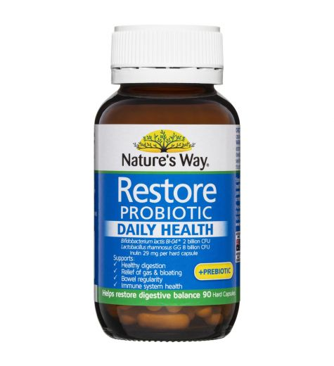 Nature's Way Restore Daily Probiotic 90 Capsules
