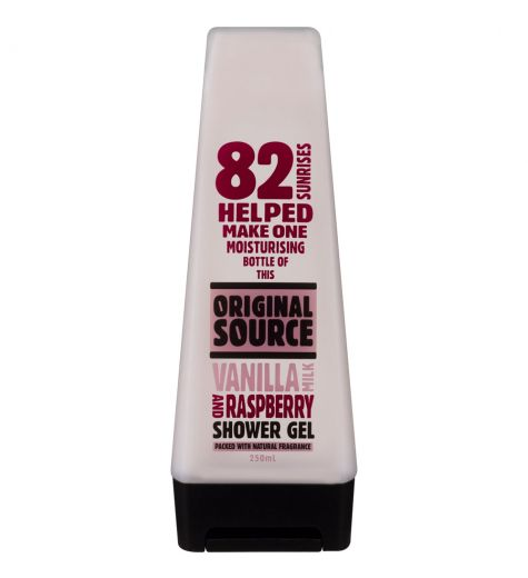 Original Source Shower Gel Vanilla Milk and Raspberry 250ml