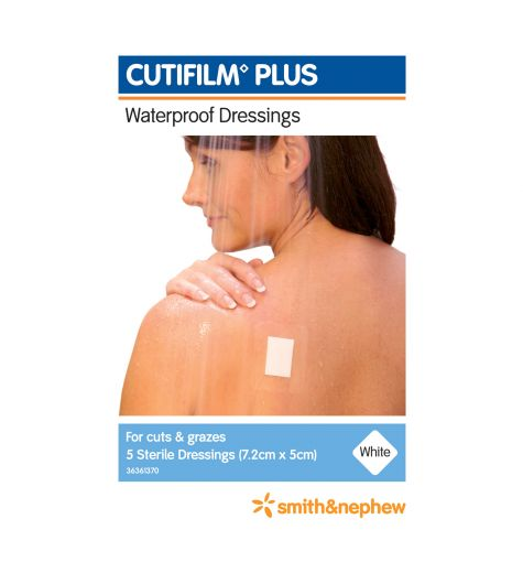 Cutifilm Plus Waterproof Dressing 7.2cm x 5cm 5 Pack