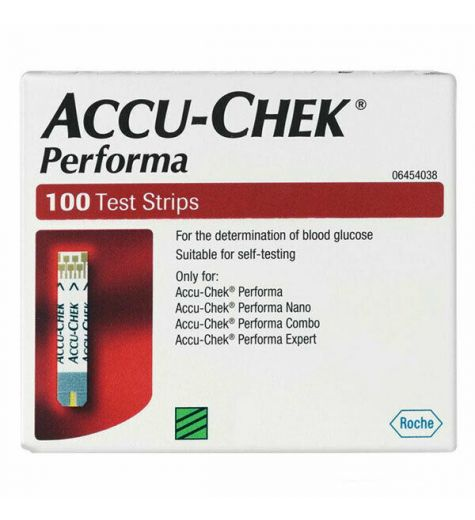 Accuchek Performa 100 Blood Glucose Test Strips