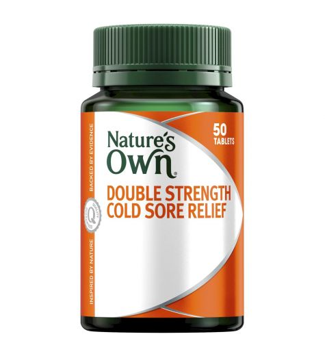 Nature's Own Double Strength Cold Sore Relief Lysine 1000mg 50 Tablets