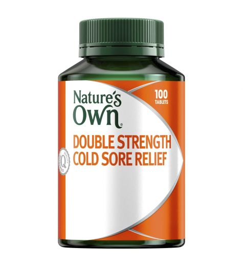 Nature's Own Double Strength Cold Sore Relief Lysine 1000mg 100 Tabs