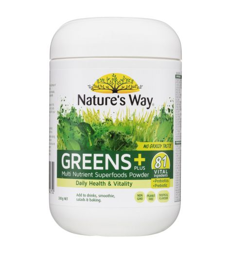 Nature's Way Superfoods Greens + High Nutrient Superfood Powder 300g