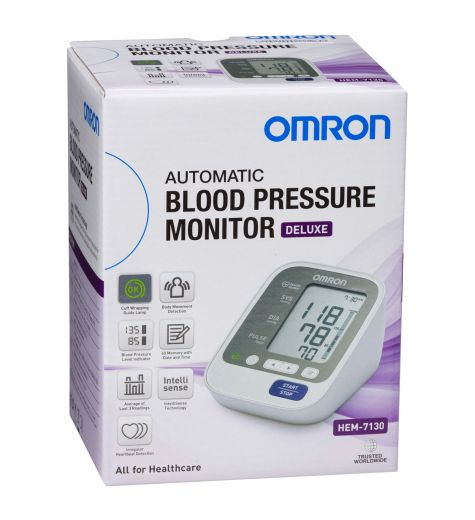 Omron Automatic Deluxe Blood Pressure Monitor HEM-7130