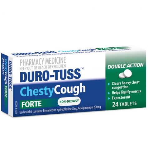 Durotuss Chesty Cough Forte 24 Tablets