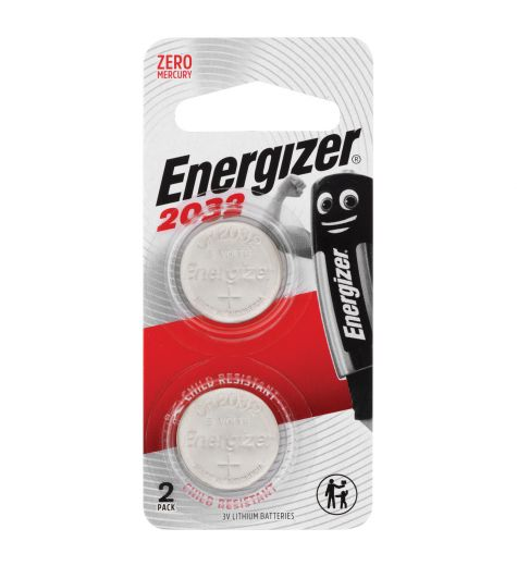 Energizer 2032 - 2 Pack Lithium Batteries 3 Volt