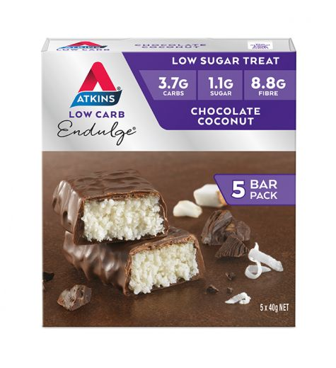 Atkins Endulge Chocolate Coconut Bars 5 Pack
