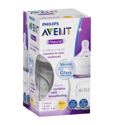 Avent Natural Glass Baby Bottle 120ml
