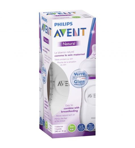 Avent Natural Glass Bottle 240ml