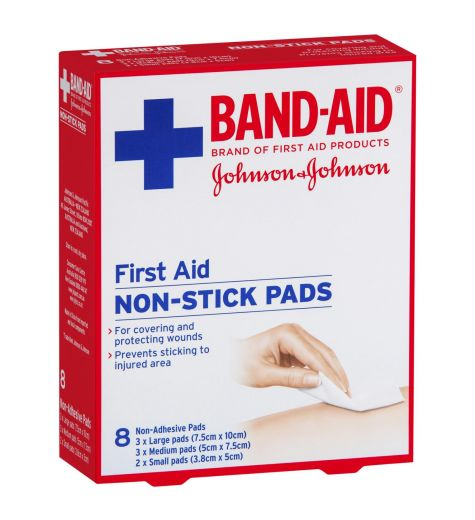 Johnson & Johnson Band Aid Non Stick Pads 8 Pack
