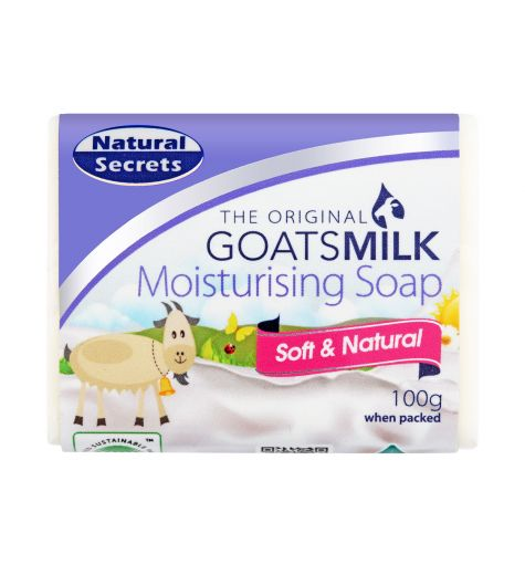 Natural Secrets Goatsmilk Moisturising Soap Soft & Natural 100g