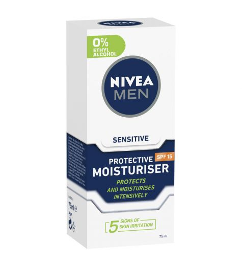 Nivea Men Sensitive Protective Moisturiser SPF 15 75ml
