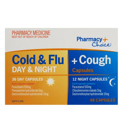 Pharmacy Choice Cold & Flu + Cough 18 Day & 6 Night 24 Capsules