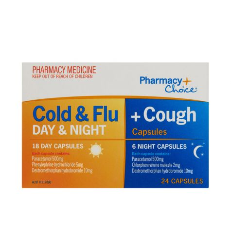 Pharmacy Choice Cold & Flu + Cough 36 Day & 12 Night 48 Capsules