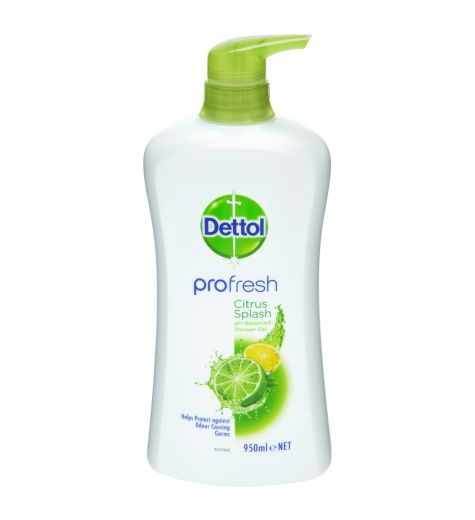 Dettol Profresh Shower Gel Citrus Splash 950ml