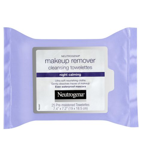 Neutrogena Night Calming Makeup Remover Cleansing Wipes 25 Pack