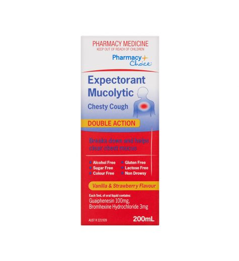 Pharmacy Choice Expectorant Mucolytic Chesty Cough 200ml