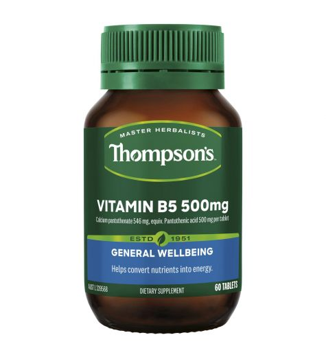 Thompson's Vitamin B5 500mg 60 Tablets