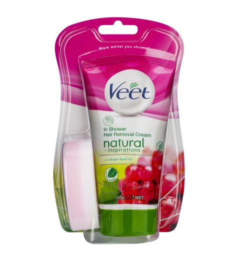 Veet In Shower Natural Hair Removal Cream 150ml