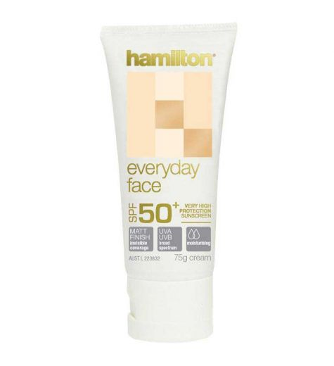 Hamilton Sunscreen SPF 50+ Everyday Face Cream 75g