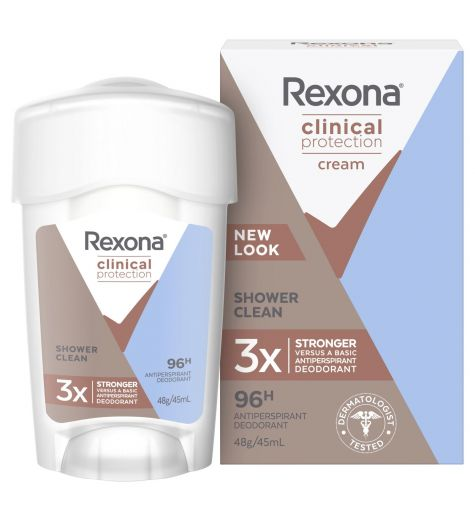 Rexona Women's Clinical Protection Antiperspirant Deodorant Shower Clean 45ml