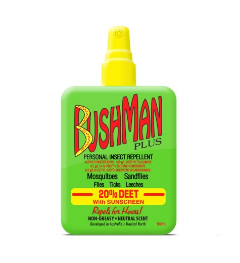 Bushman Plus Personal Insect Repellent + Sunscreen 20% Deet Spray 100ml