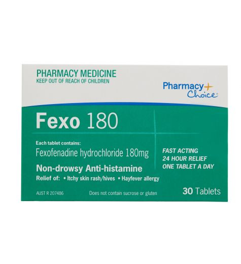 Pharmacy Choice Fexofenadine Tablets 180mg 30 (Same as Telfast)