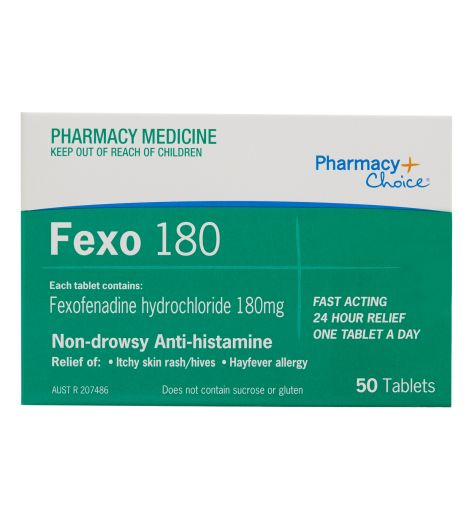 Pharmacy Choice Fexofenadine Tablets 180mg 50 (Same as Telfast)