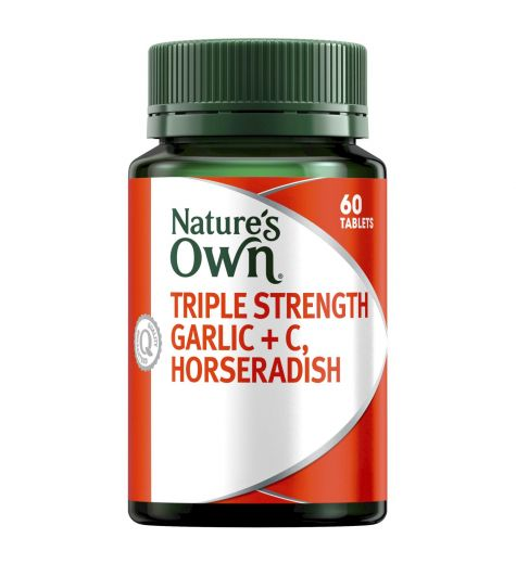 Nature's Own Triple Strength Garlic + C, Horseradish 60 Tablets
