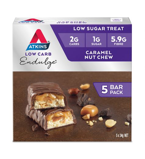 Atkins Endulge Caramel Nut Chew Bars 5 Pack