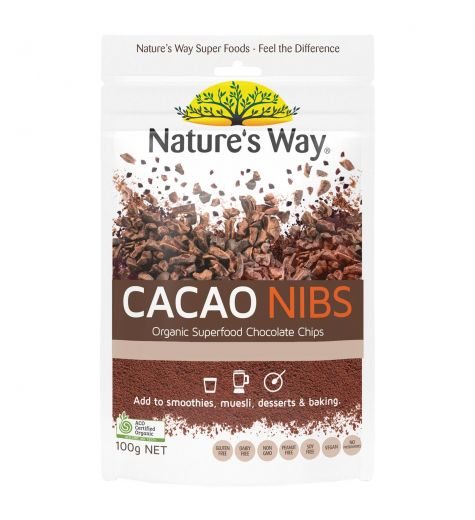 Nature's Way Super Foods Cacao Nibs 100g