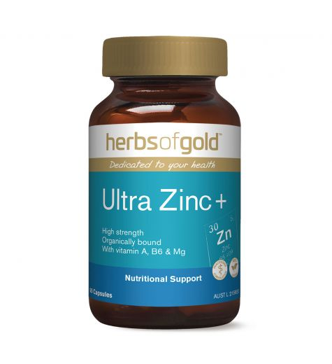 Herbs Of Gold Ultra Zinc + Capsules 60