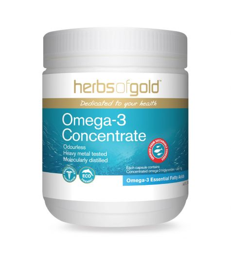 Herbs Of Gold Omega 3 Concentrate 100 Capsules