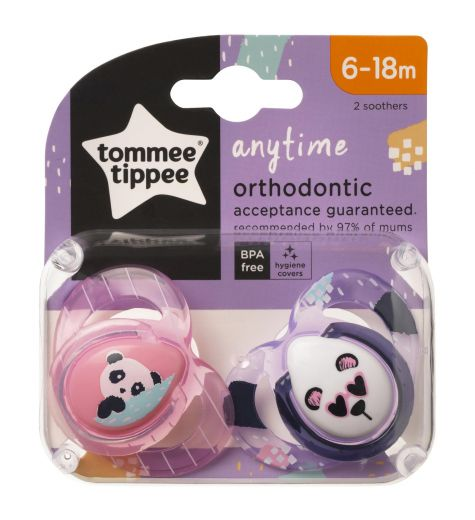 Closer To Nature Any Time 2 x Orthodontic Soothers 6-18m