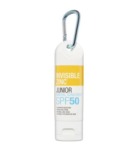 Invisible Zinc SPF50 Roll On Junior Sunscreen Shield Clip On 60g