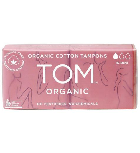 Tom Organic Cotton Mini Tampons 16 Pack