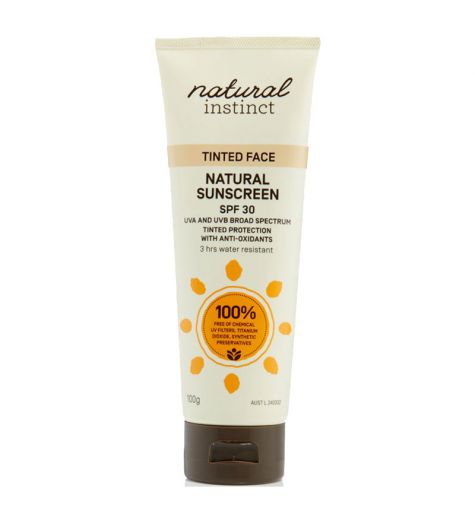 Natural Instinct Tinted Face Natural Sunscreen SPF30 100g