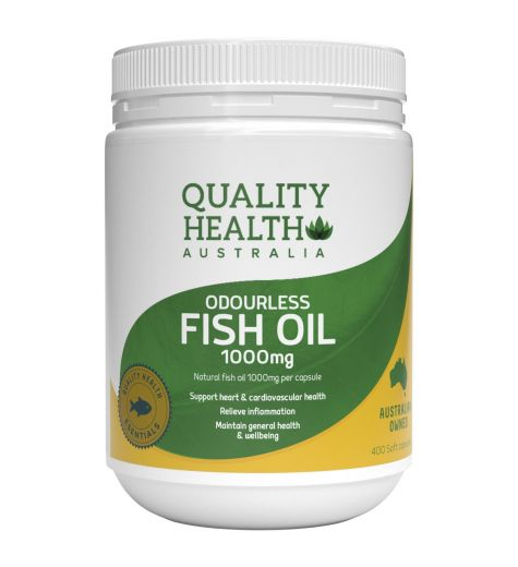 Quality Health Odourless Fish Oil 1000mg 400 Capsules