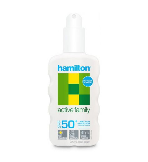 Hamilton Active Family SPF 50+ Spray Sunscreen 200ml