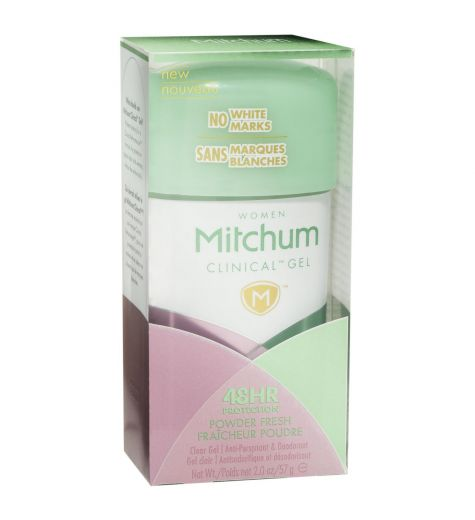 Mitchum Clinical Gel Powder Fresh Anti-Perspirant 45ml